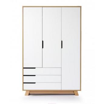 Шкаф Manhattan 1200 (с ящиками) Верес Бело-буковый