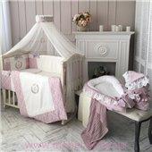 Набор постельного белья De Lux (7 предметов) Маленькая Соня пыльная роза