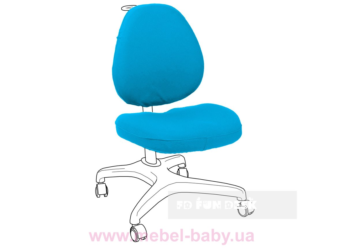 Чехол для кресла Bello I Chair cover Blue FUNDESK