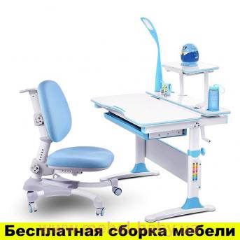 Комплект Evo-kids (стол+полка+кресло+лампа) Evo-30 BL (дерево) с лаппой