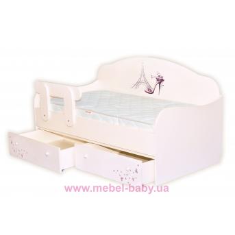 Распродажа Кроватка диванчик Париж MebelKon 90x190 с ящиками