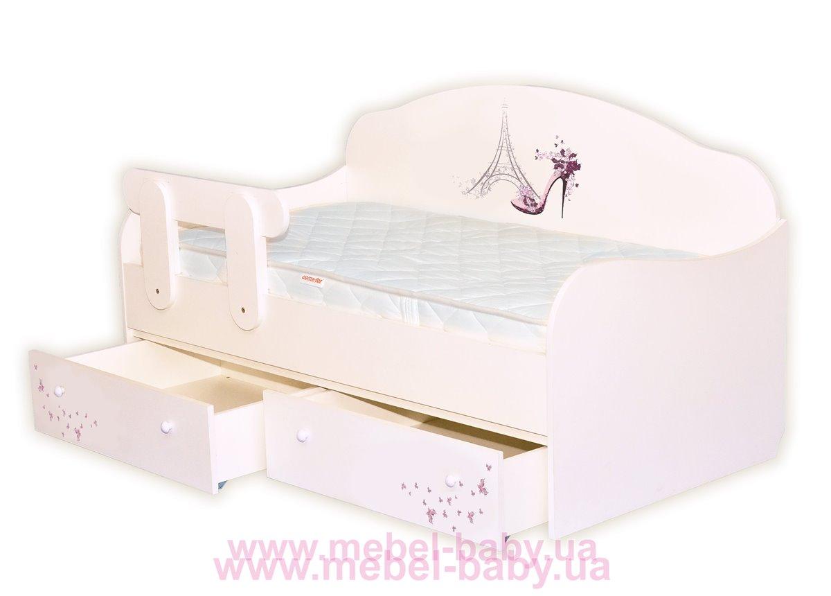 Распродажа Кроватка диванчик Париж MebelKon 80x190 с ящиками
