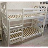 Двухъярусная кровать Лея Мистер Мебл 90х190 Дерево