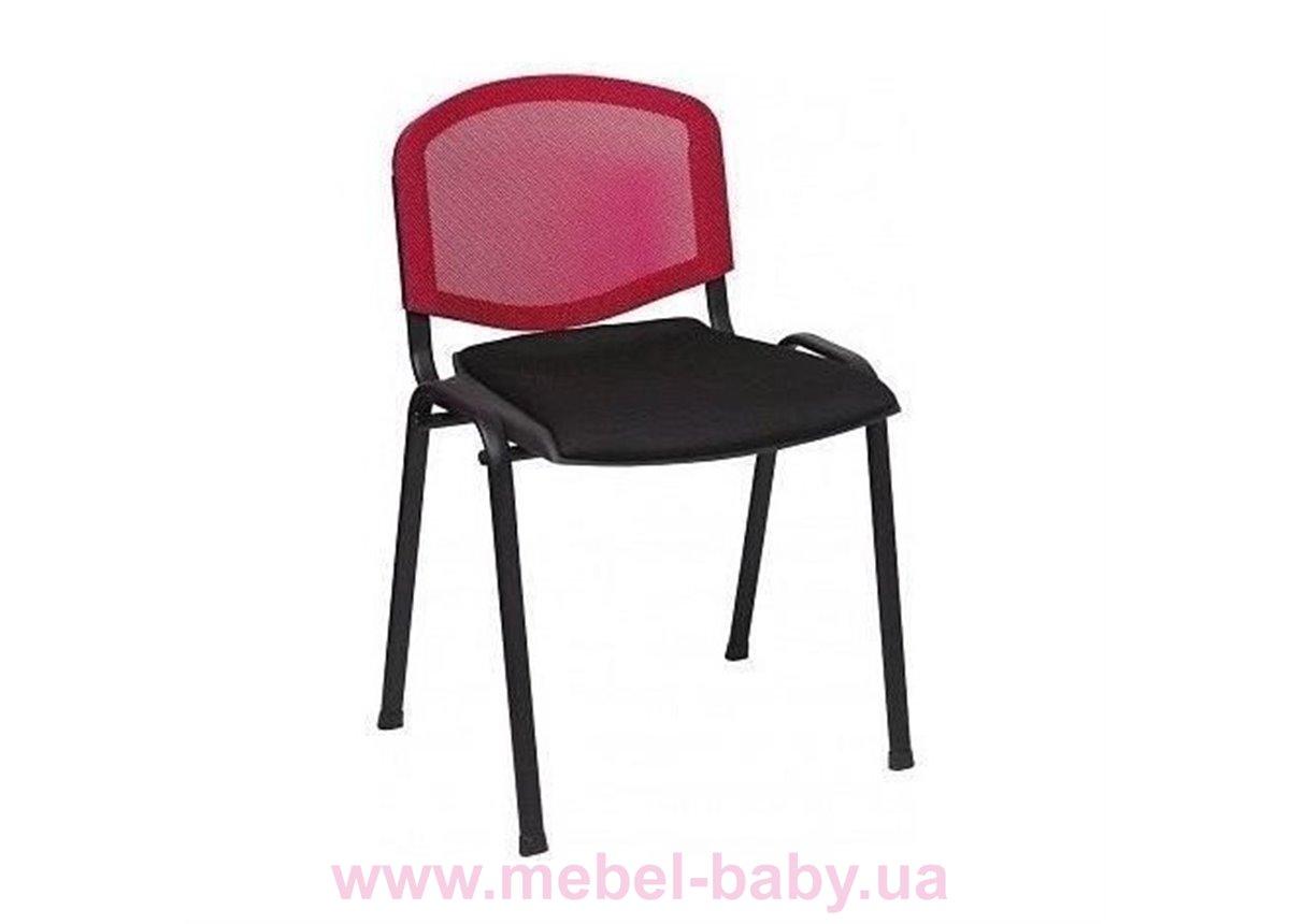 Распродажа Стул Призма Веб сиденье Сетка черная/спинка Сетка красная 180001