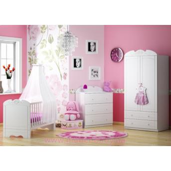 Распродажа_Комната для новорожденных Meblik Серия Bianco Fiori