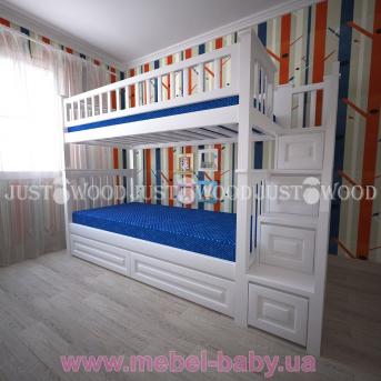 Кровать детская двухъярусная Простоквашино +