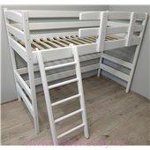 Кровать-чердак Снови Белая Ирель 150
