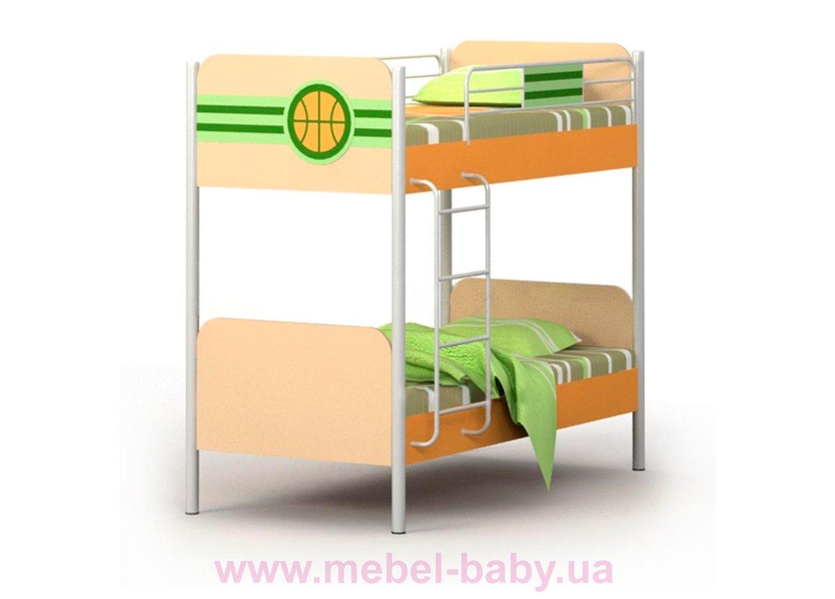 Двухъярусная кровать Bs-12 Briz 90х200 Зеленая вода ЛДСП