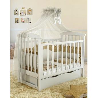 Кроватка детская LUX7 МДФ мишка 3д Angelo 1200x600 белый