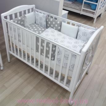 Не качающаяся кроватка для новорожденных Georgia 65x125 Pali Белый
