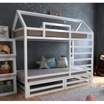 Двухъярусная кровать Джули 70х140 MegaОПТ