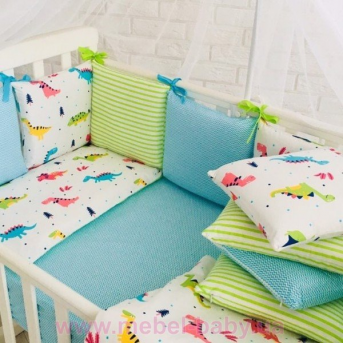 Baby Design Премиум Dino бирюза белый, молочный (6 предметов) Маленькая Соня