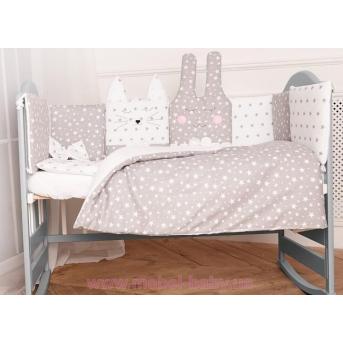 """Распродажа Спальный набор в детскую кровать """"Кися-Зая"""" Добрый сон 60х120"""