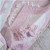 Конверт De lux резинка с бантом пыльная роза 80х80 Маленькая Соня