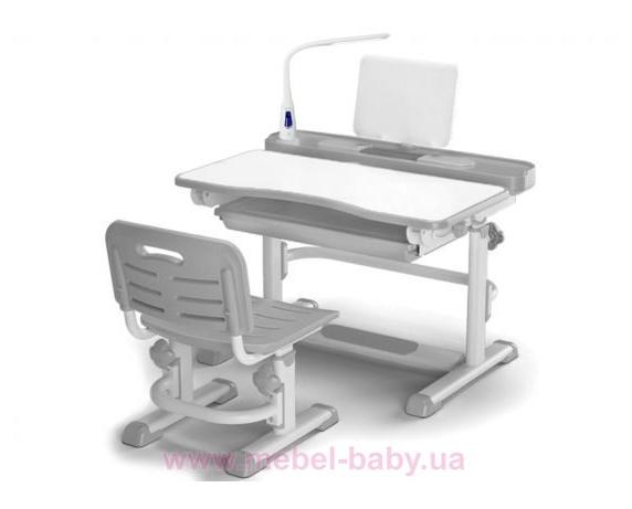 Комплект Evo-kids (стул+стол+полка+лампа) BD-04 G New с лампой серый