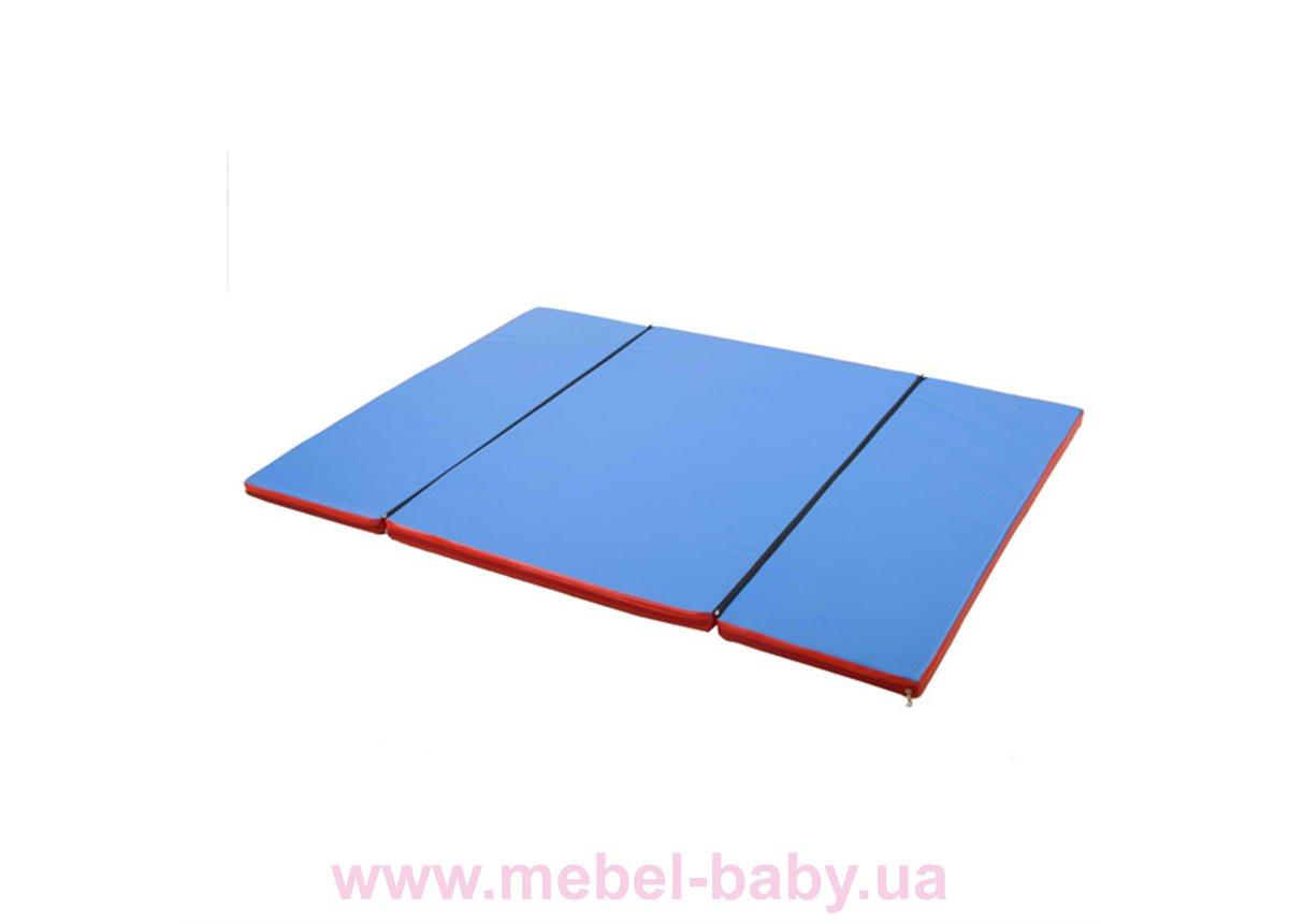 Гимнастический мат складной  Мат домино 120х160x4 см Sportbaby