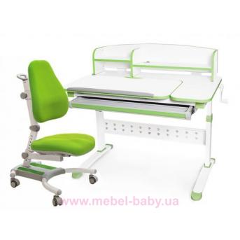 Комплект Evo-kids кресло Omega KZ+парта Martin WZ с полкой 1000 зеленый