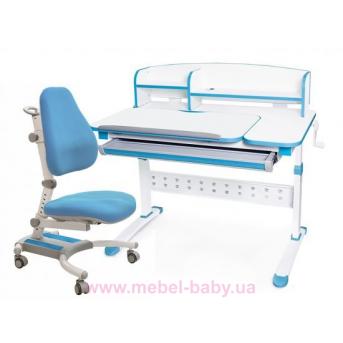 Комплект Evo-kids кресло Omega KBL+парта Martin WB с полкой 1000 синий
