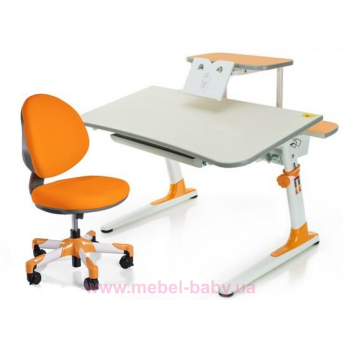 Комплект Mealux стол Edison Y c полкой + кресло Vena KY 1040 оранжевый
