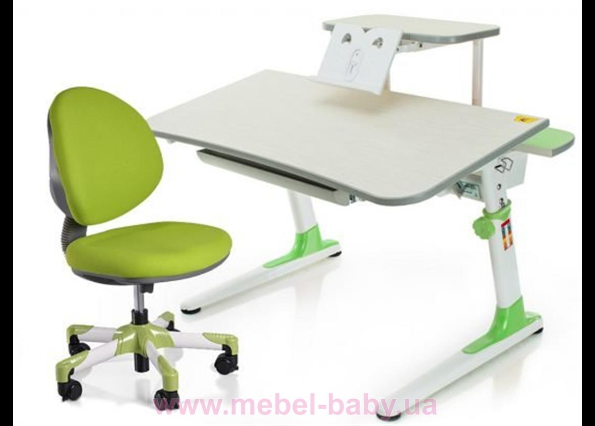 Комплект Mealux стол Edison Z c полкой + кресло Vena KZ 1040 зеленый