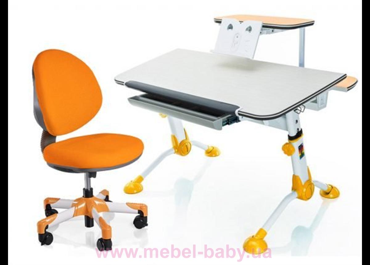 Комплект Mealux стол Orion Y c полкой + кресло Vena KY 1050 оранжевый