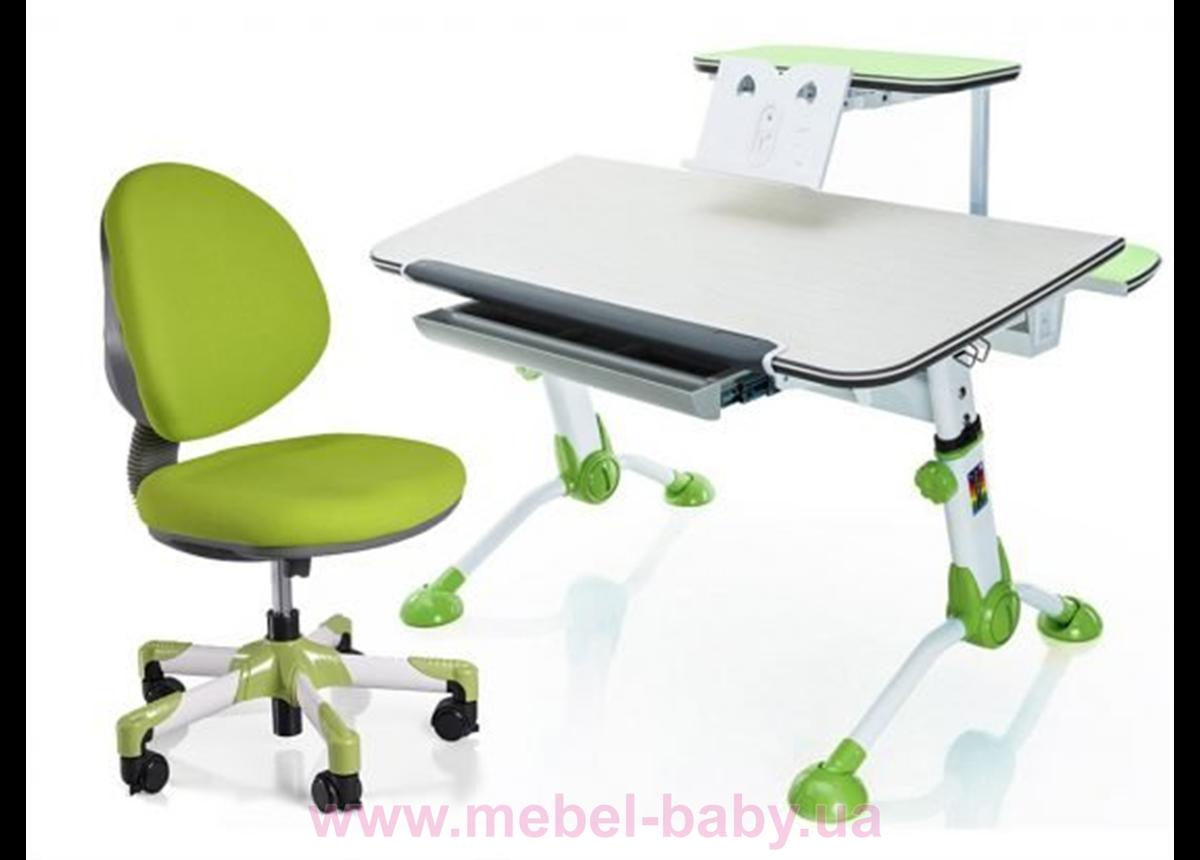 Комплект Mealux стол Orion Z c полкой + кресло Vena KZ 1050 зеленый