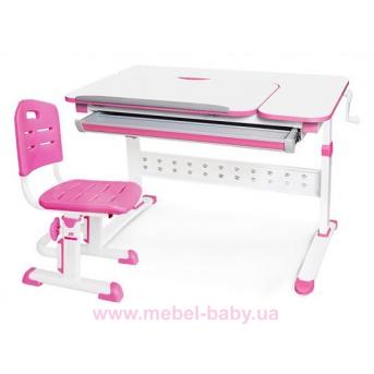 Комплект Evo-Kids стол Martin WP+стул Evo-301 PN 1000 розовый