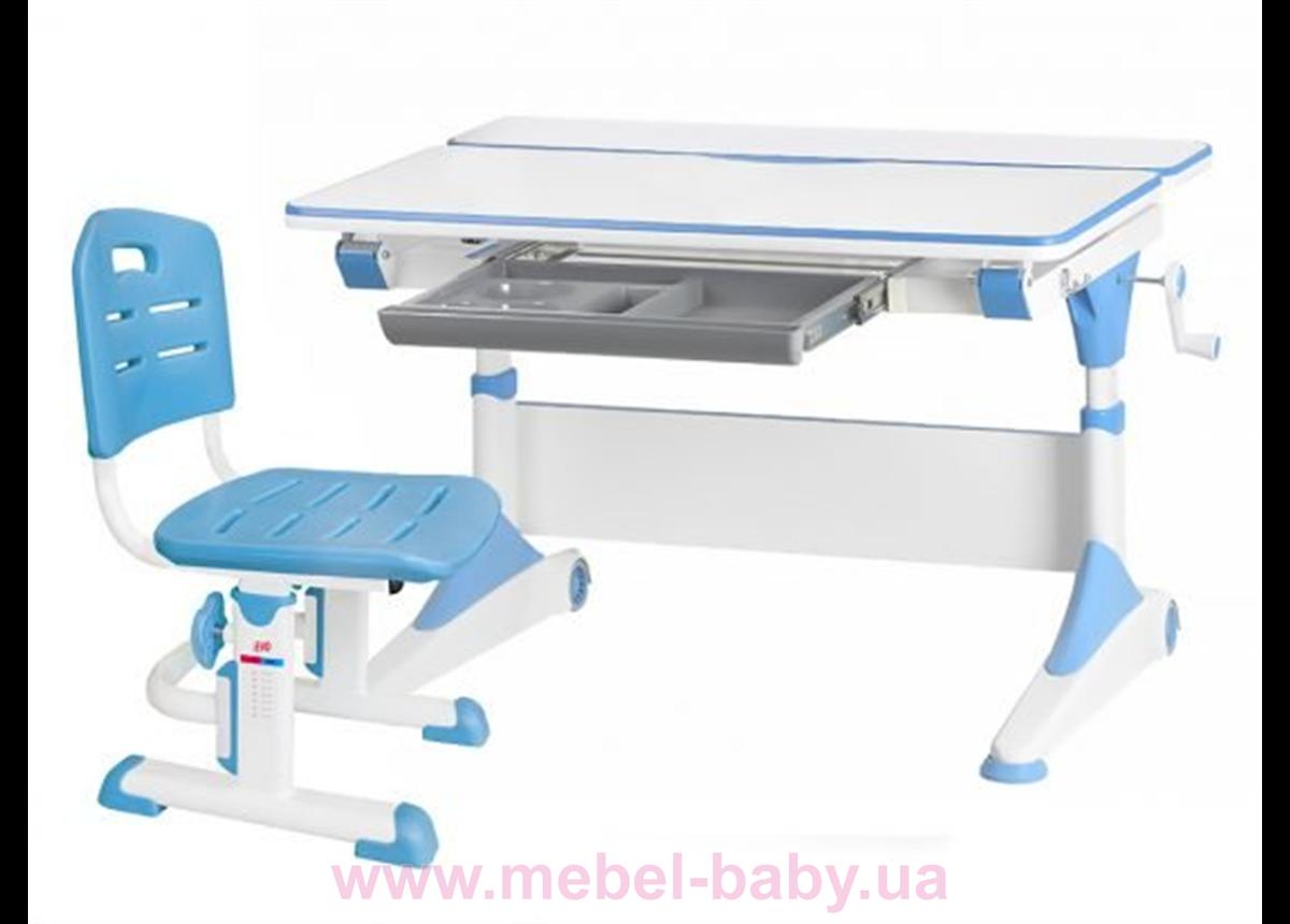Комплект Evo-Kids стол Alberto WB+стул Evo-301 BL 1000 голубой