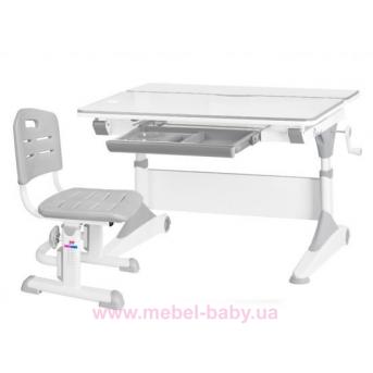 Комплект Evo-Kids стол Alberto WG+стул Evo-301 G 1000 серый