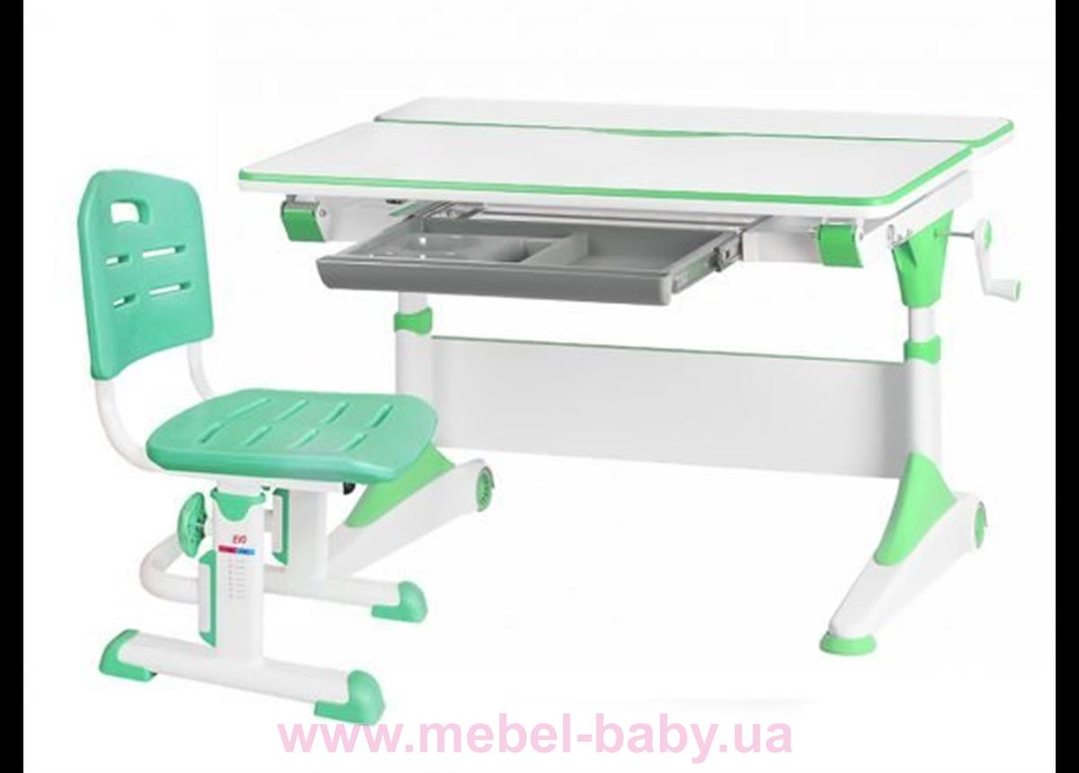 Комплект Evo-Kids стол Alberto WZ+стул Evo-301 Z 1000 зеленый