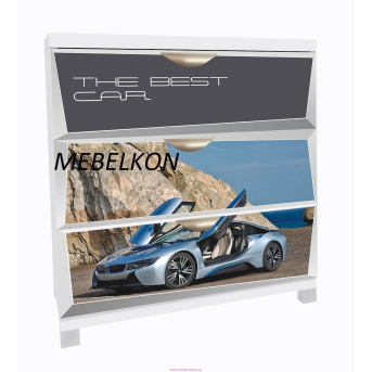 Комод А1 BMW Space cерый фасады ДСП 90x80x50 MebelKon