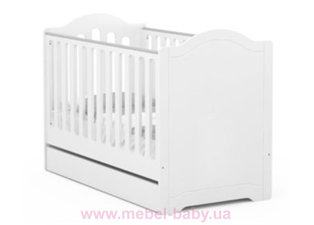 518_Кроватка для новорожденных Re 70x140 Simple Meblik Белый