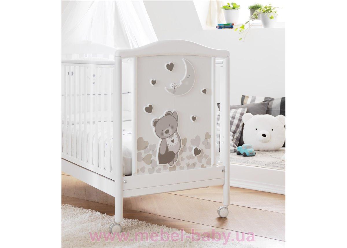 Не качающаяся кроватка для новорожденных  Moon White 63х125 Pali Белый