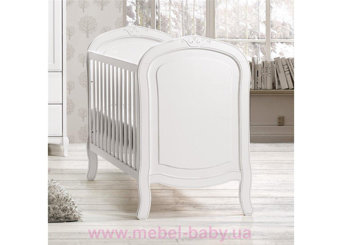 Не качающаяся кроватка для новорожденных Glamour 60х120 Trama Белый