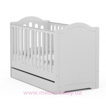 518_Кроватка для новорожденных Re 70x140 Simple Meblik серый