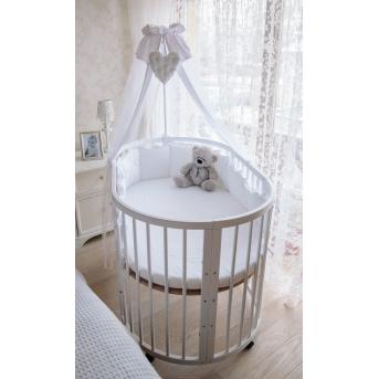 Кроватка многофункциональная 7 в 1 Dreammy 74x74/126 белый