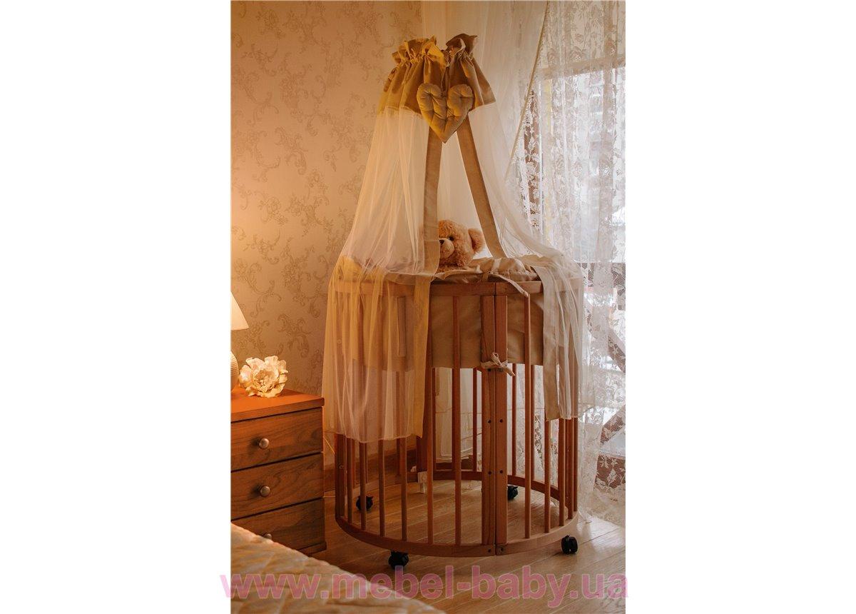 Кроватка многофункциональная 7 в 1 Dreammy 72х122 натуральный бук