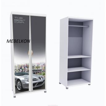 Шкаф А1 Mercedes фасады МДФ Глянец 190x80x50 MebelKon