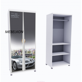Шкаф А1 Mercedes фасады МДФ Матовый 190x80x50 MebelKon