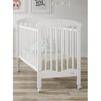 Не качающаяся кроватка для новорожденных Teddy Matt White 60х120  Trama белый