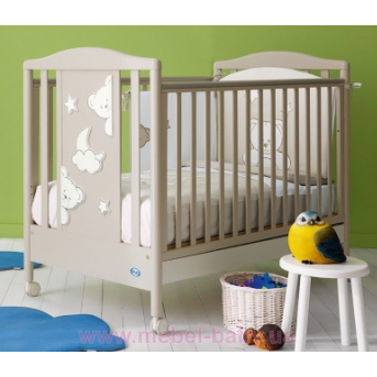 Не качающаяся кроватка для новорожденных Georgia Warm Grey 63х125 Pali серый