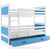 Двухъярусная кровать + 2 матраса + 1 ящик + бортик RICO BUNK BMS Group 80x160