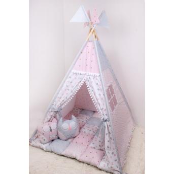 Детская палатка-вигвам в розово-голубых тонах 125х125х170 см Мирамель