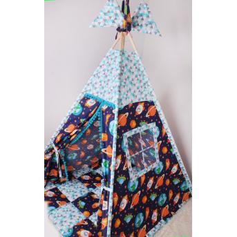 Детская палатка-вигвам Космос 125х125х170 см Мирамель