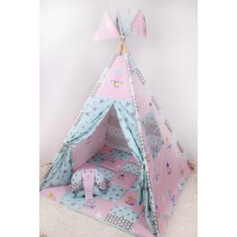 Детская палатка-вигвам со Свинкой Пеппой 125х125х170 см Мирамель