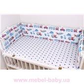 Тонкие бортики защита в кроватку машинки Мирамель 60х120