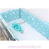 Тонкие сатиновые бортики защита в кроватку Мирамель 60х120