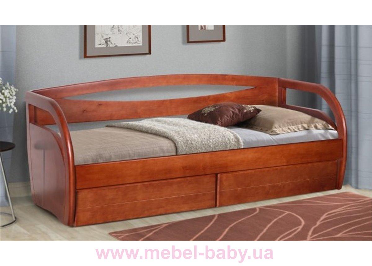 Кровать-диванчик Бавария 80х200 Микс-Мебли орех
