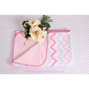 Детская непромокаемая фланелевая пеленка розовые зигзаги Мирамель 80х100 см