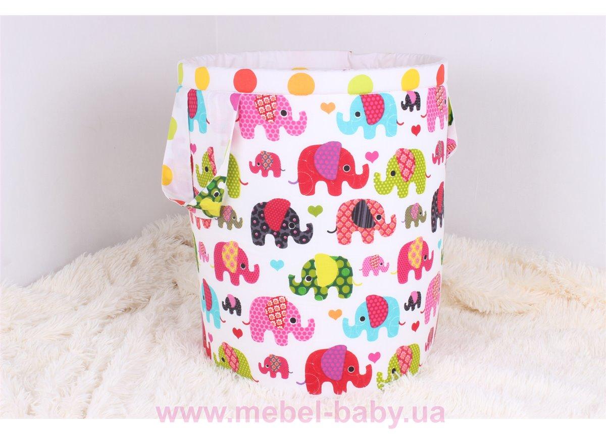 Корзина для игрушек со слониками Мирамель